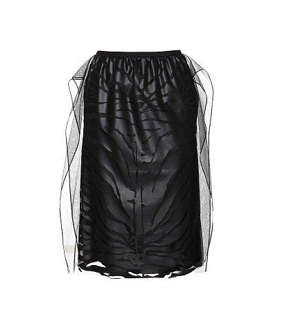 Carven - Flocked tulle skirt