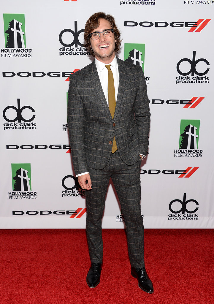 Diego Boneta put his pearly whites on display at the Hollywood Film Awards on Monday.