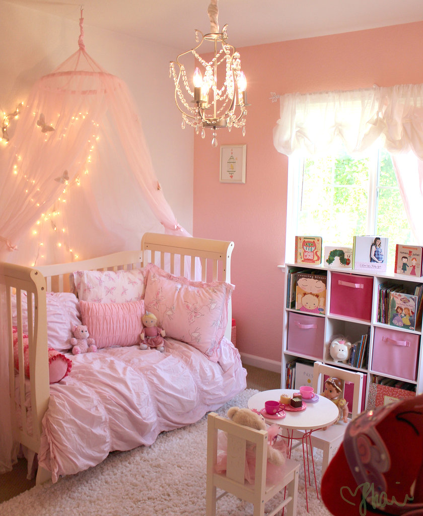 Pink princess butterfly room for girls popsugar moms for Girl toddler bedroom ideas