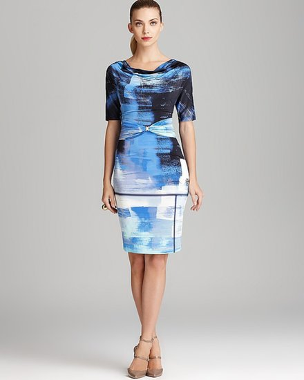 Escada Print Dress - Short Sleeve Brushstroke