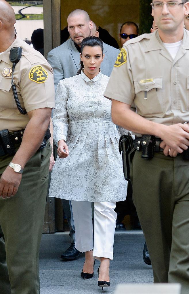 Kim Kardashian at Her Divorce Hearing
