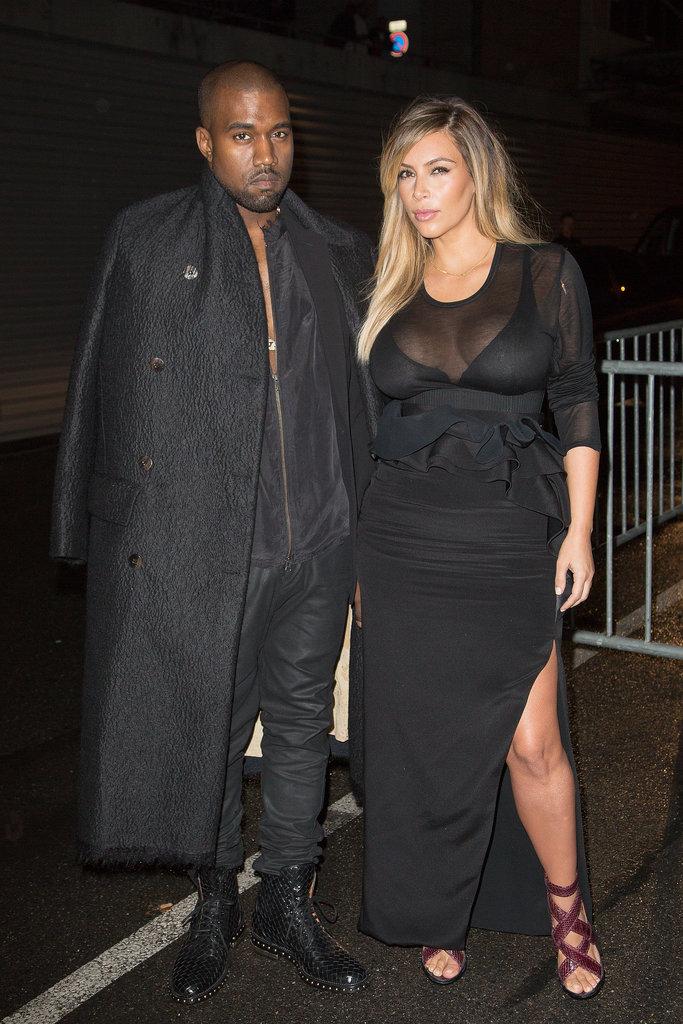 Kim Kardashian at Givenchy's Spring 2014 Runway Show