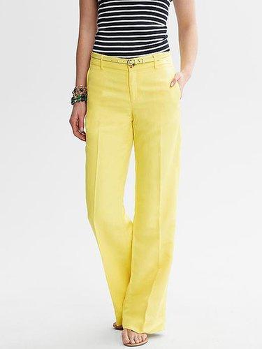 Linen Blend Wide-Leg Pant