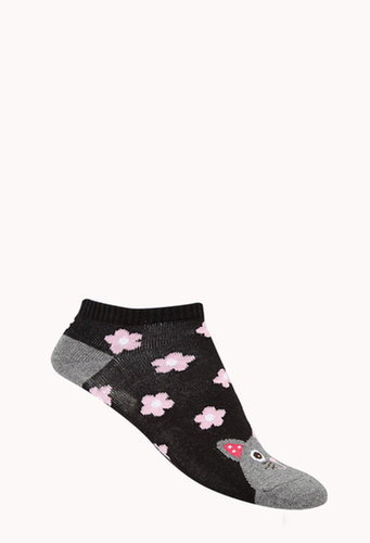 FOREVER 21 Flower Power Ankle Socks