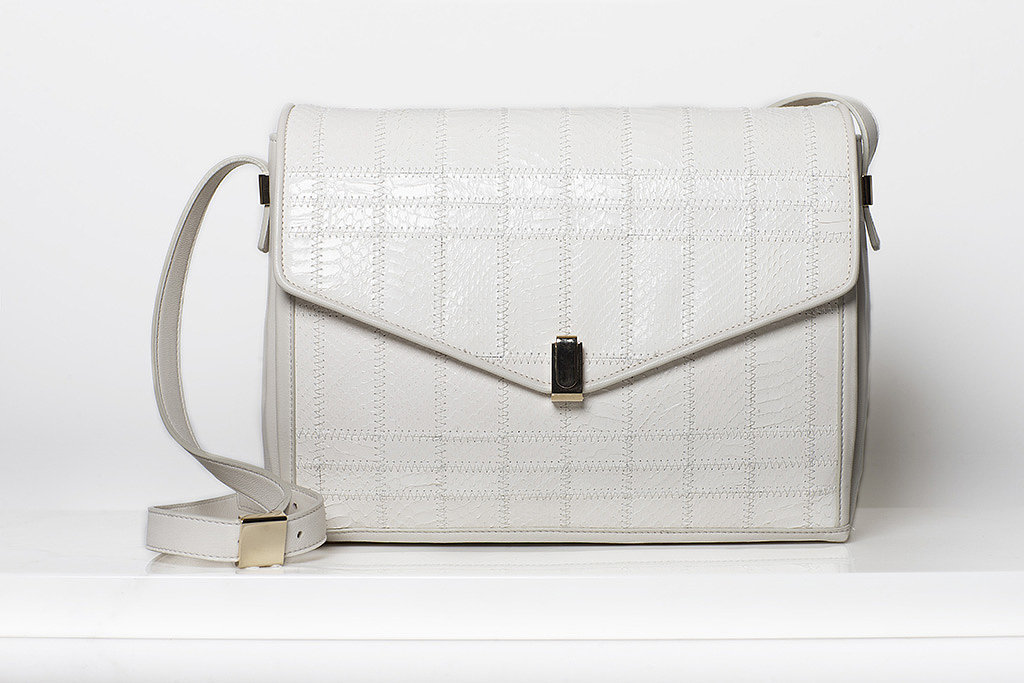 Pleasure Watersnake Shoulder Bag in Cream ($1,295) Photo courtesy of Tamara Mellon