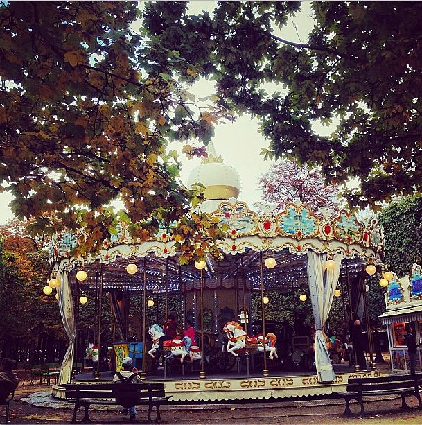"Too old to ride the carousel? Joanna Hillman said ""never!"" Source: Instagram user joannahillman"