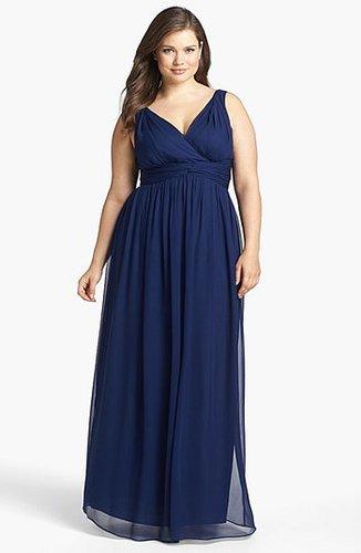 Donna Morgan 'Julie' Twist-Waist Silk Chiffon Gown (Regular & Plus)