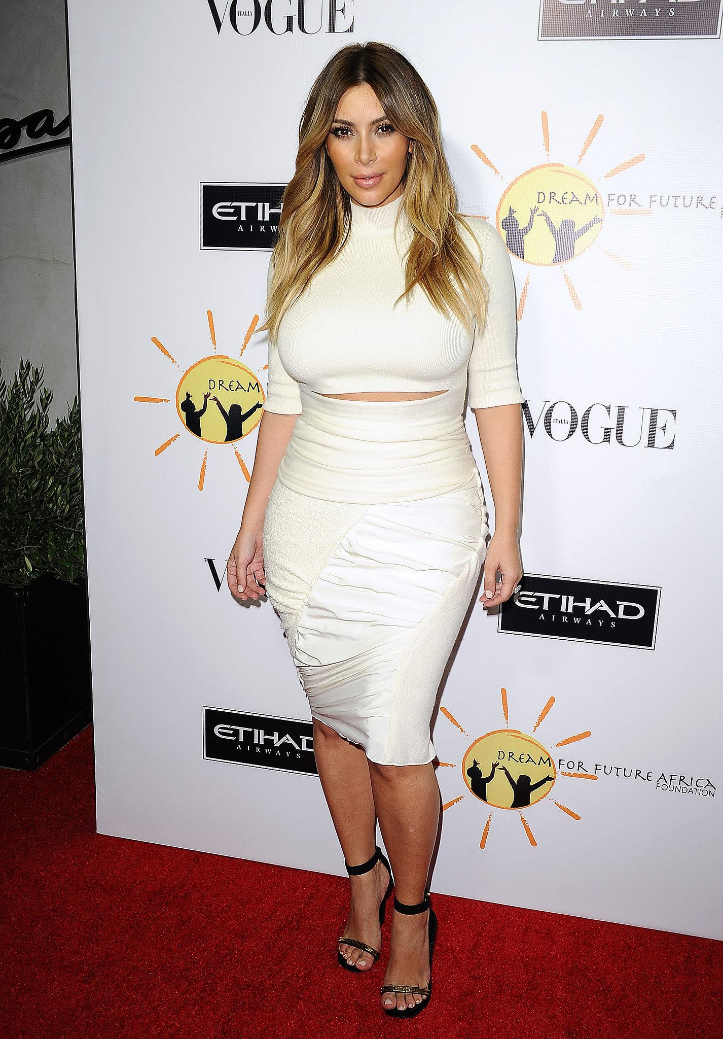 Only Kim Kardashian Wears Stilettos to the Movies