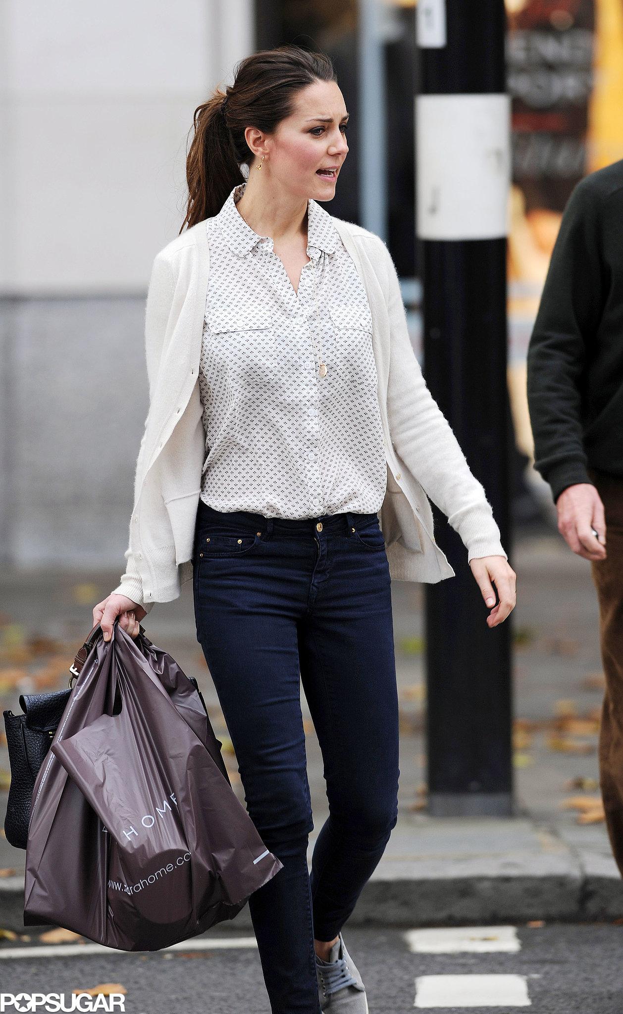 Kate Middleton went shopping on Kings Road in London.