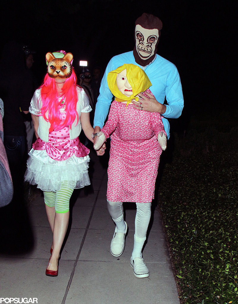 Isla Fisher and Sacha Baron Cohen's costumes for the Casamigos Halloween Party were way out of left field.