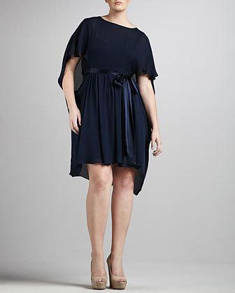 JilRo Grecian Tie-Waist Dress, Women's