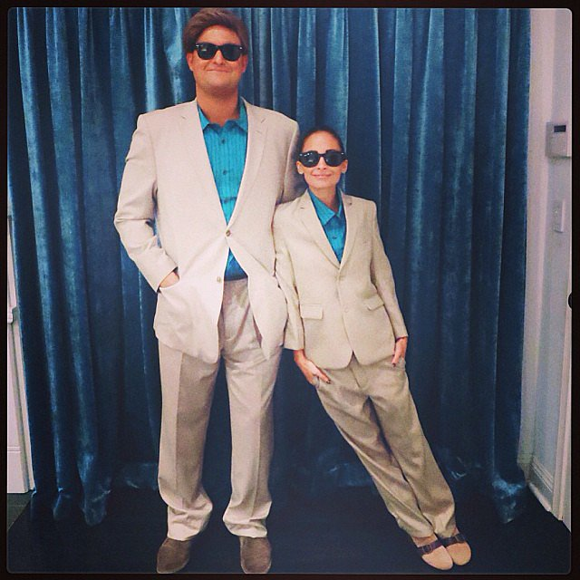 For Halloween, Nicole Richie dressed as Danny DeVito in the movie Twins. Source: Instagram user nicolerichie