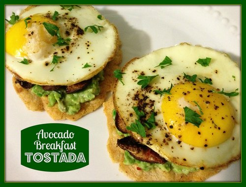 Avocado Breakfast Tostada