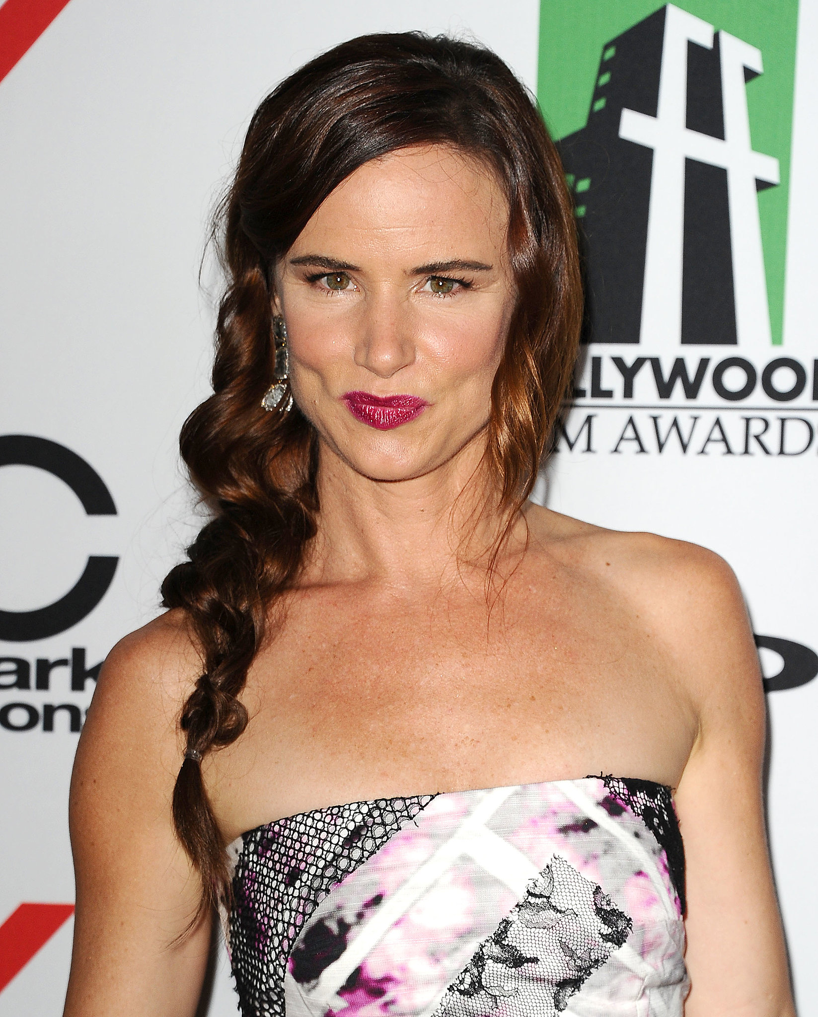 Juliette Lewis's twisted and pulled side braid was fun and unexpected.
