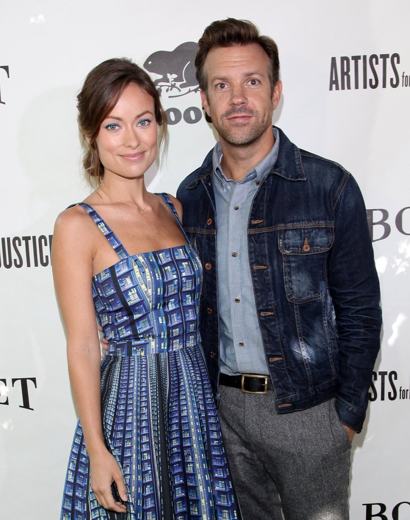 Olivia Wilde and Jason Sudeikis wore matching blue ensembles for a Toronto International Film Festival event in September 2013.