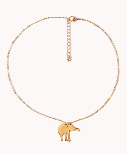 FOREVER 21 Elephant Charm Necklace