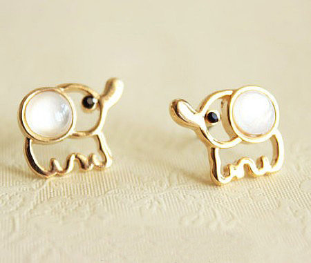 shopbazar shopping mall — [Grd03070 zxy]Cute Fashion Elephant Earrings