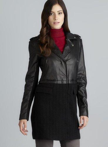 Walter Mixed Media Alexa Faux Leather Coat