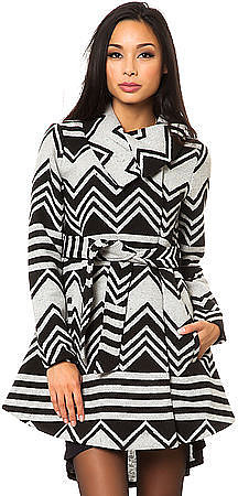 Jack BB Dakota The Emilia Charley Stripe Coat
