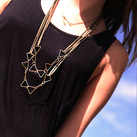 DIY: Geometric Gold Necklace