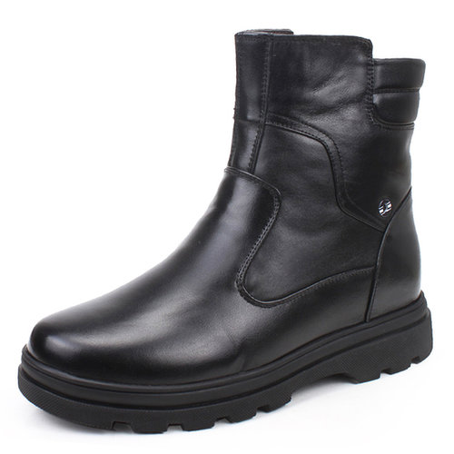 Black men height elvating boots that make you taller 6.5cm / 2.56inch