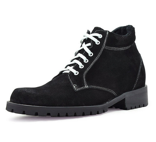 Black men heel height boots that make you taller 9cm / 3.54inch