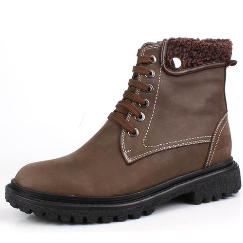 Brown men extra height boots that make you taller 6.5cm / 2.56inch