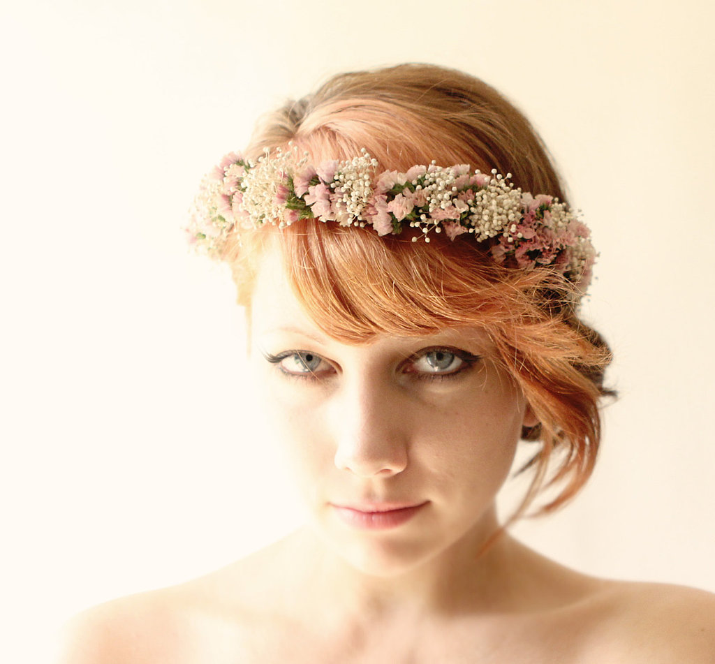 Why go for fake flowers when you can wear a lovely dried-flower crown ($68) instead?