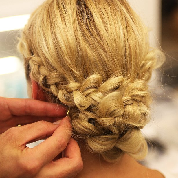 Braided Wedding Hairstyles: Monique Lhuillier Bridal Fall 2014 Braided Hairstyles