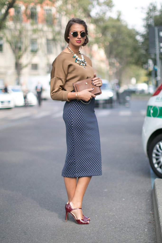 Sometimes reinventing your work outfit is as easy as throwing on a statement necklace.