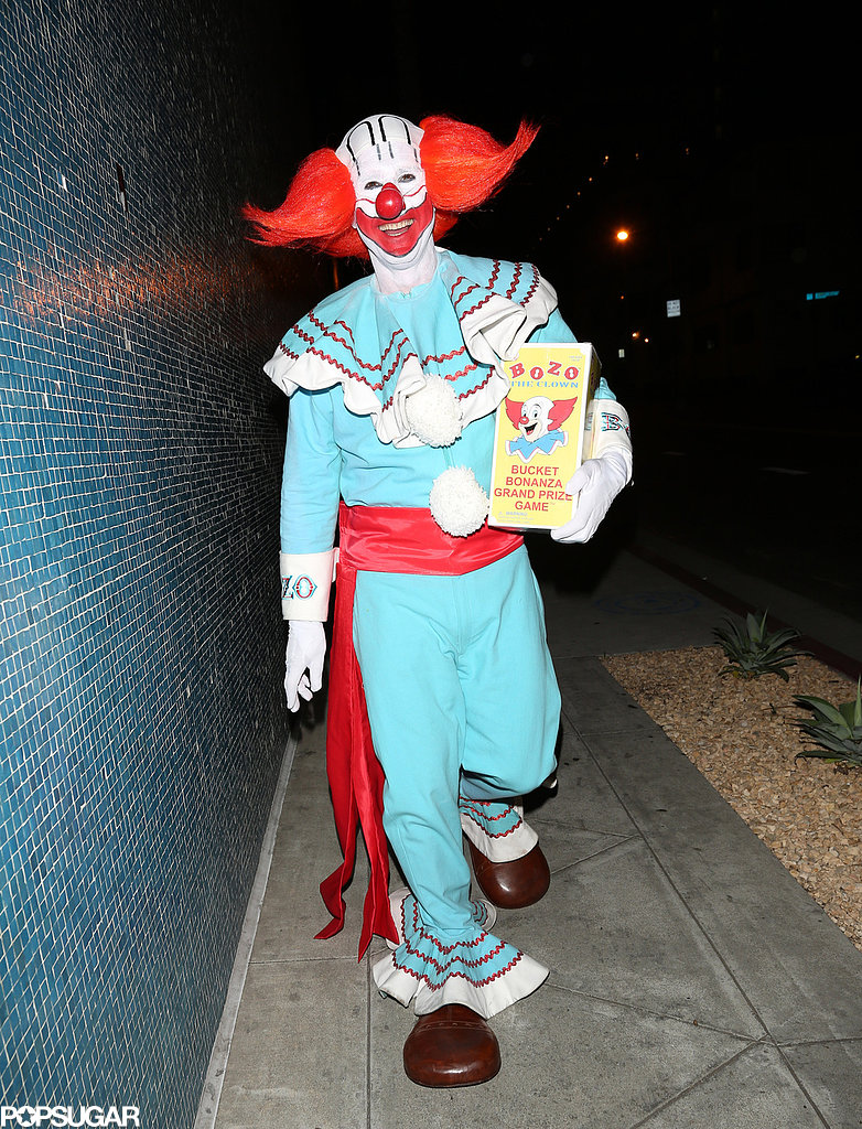 David Arquette attended a Halloween party as Bozo the Clown.