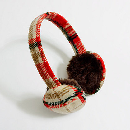 Factory plaid earmuffs