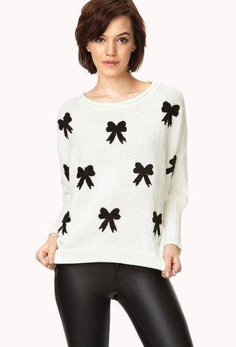FOREVER 21 Cozy Bow Dolman Sweater