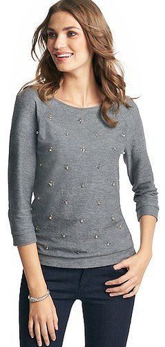 Jewel Embellished Sweatshirt