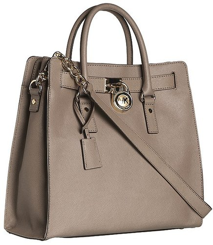 MICHAEL Michael Kors - Hamilton Large North/South Tote (Black) - Bags and Luggage