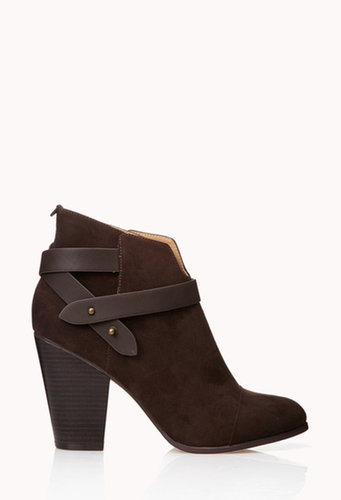 FOREVER 21 Sleek Faux Suede Booties