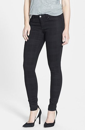 Genetic Denim 'Shya' Plaid Cigarette Skinny Jeans (Nocturnal)