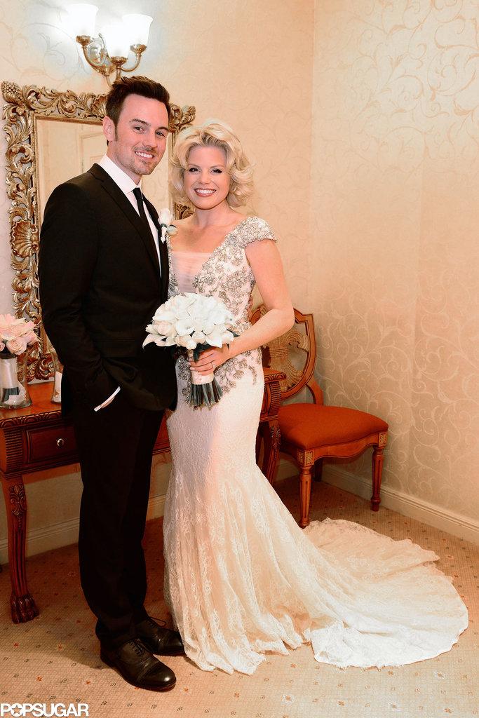 Megan Hilty married Brian Gallagher in Las Vegas in October 2013.