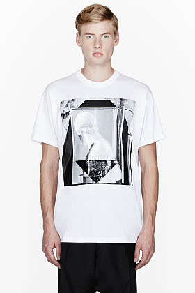 GIVENCHY White two romans t-shirt