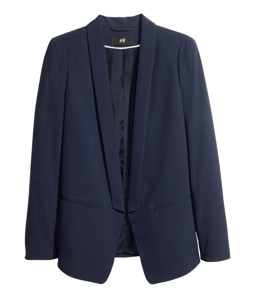 How's this H&M dinner-jacket blazer ($35) for an ultrachic work jacket?
