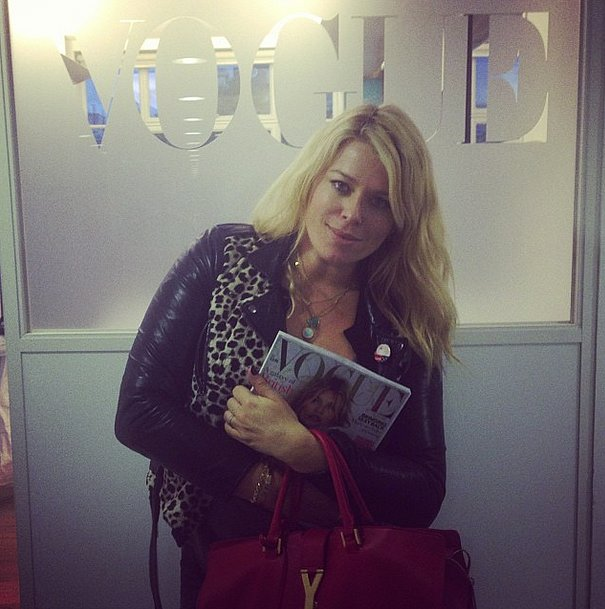 Amanda de Cadenet made a stop at the Vogue offices. Source: Instagram user amandadecadenet