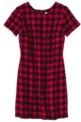 Xhilaration® Juniors Houndstooth Shift Dress - Red