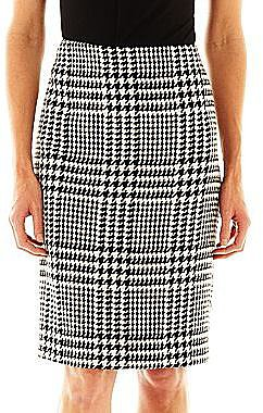 Liz Claiborne Houndstooth Pencil Skirt