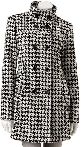 D.e.t.a.i.l.s houndstooth wool-blend coat