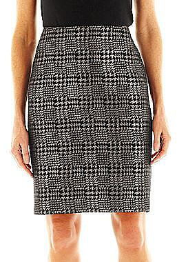 Liz Claiborne Metallic Houndstooth Pencil Skirt