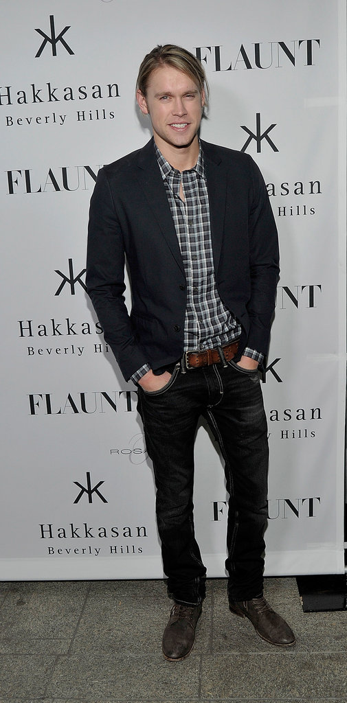 Glee's Chord Overstreet suited up for the party.