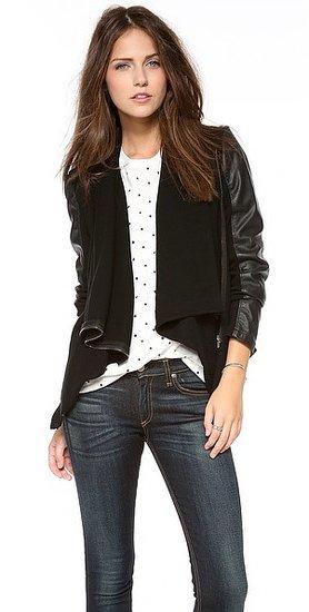 Blank denim Vegan Leather & Ponte Jacket