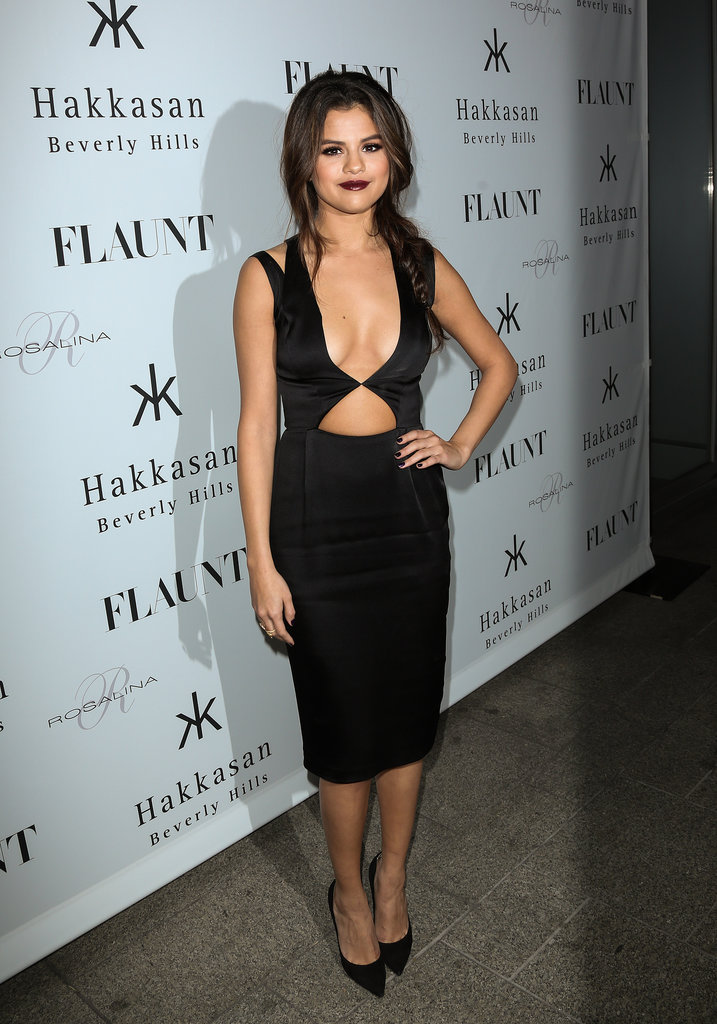 Flaunt was right! Selena Gomez really showed some skin in Cushnie et Ochs at the launch party for her cover.