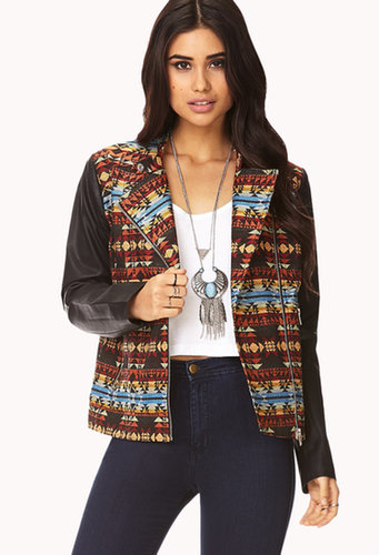 FOREVER 21 Well-Traveled Moto Jacket
