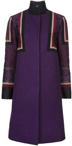 Etro patchwork coat